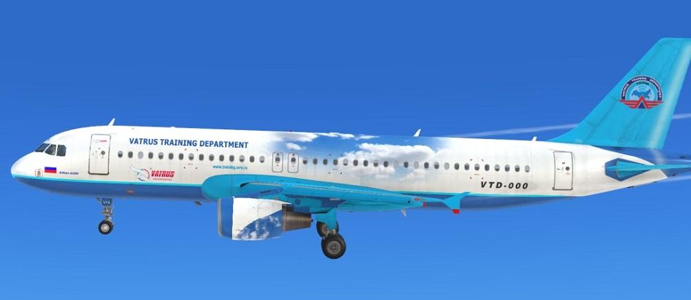 Ливрея УТЦ для Airbus A320 от Aerosoft для FSX